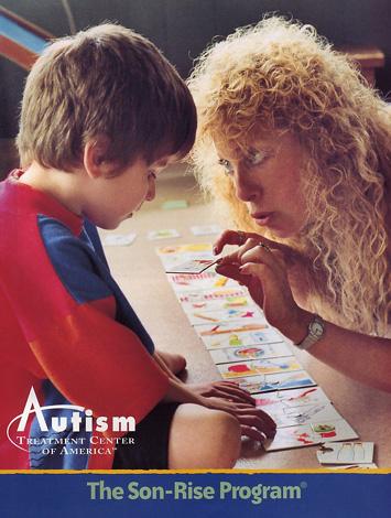 Plakat z Amerykańskiego Centrum Metody Son- Rise Autism Treatment Center of America.